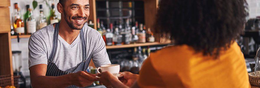 Parcours client dans un café